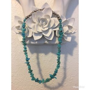 Jewelry - Real turquoise and sterling silver necklace
